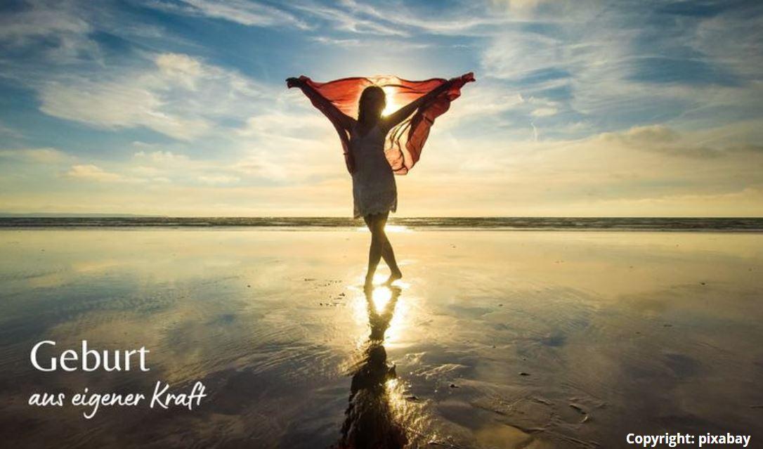 Frau am Meer, das Gefühl der Freiheit