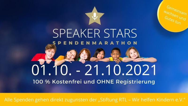 Daten des Spendenmarathon Speaker Stars